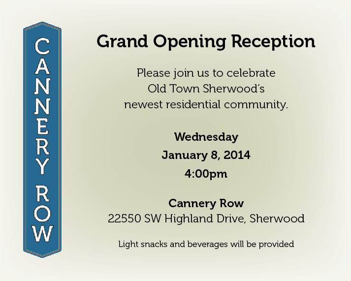 Invitation to Chamber Members Grand Opening Reception Cannery Row