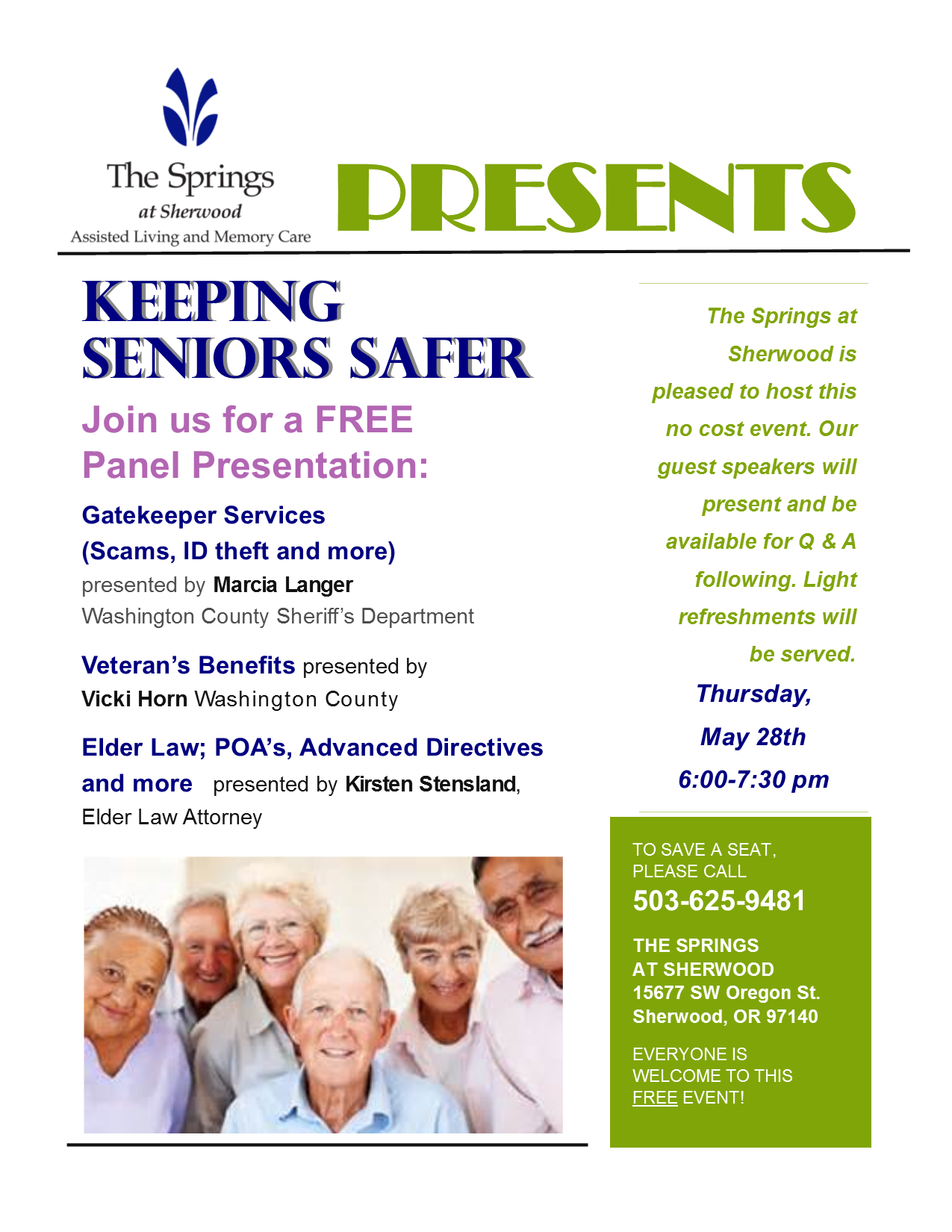 Springs event May 28- PNG